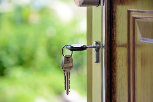 Key in lock of new home found via online estate agents