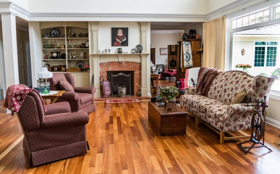 Display of living room with pieces upholstered by upholstery Edinburgh expert.